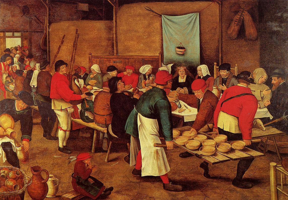 5. Un banquete medieval. Obra de Pieter Brueghel, el Joven (1564-1638)