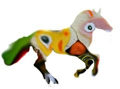velociraptor(0.0), dinosaur(0.0), cartoon(0.0), toy(0.0), animal figure(1.0), figurine(1.0),