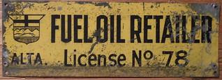 ALBERTA c.1915 FUEL OIL RETAILER LICENSE #78
