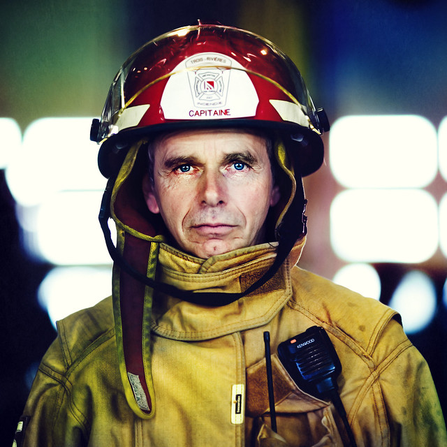 Firefighter  (front Page of DIGIPHOTO PRO magazine)