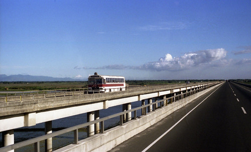 Philippine Rabbit M.A.N (fleet No 647) north bound on the North Luzon Expressway north of Manila, Philippines.