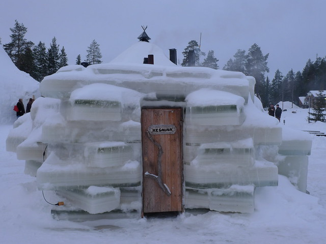 A sauna made with ice
