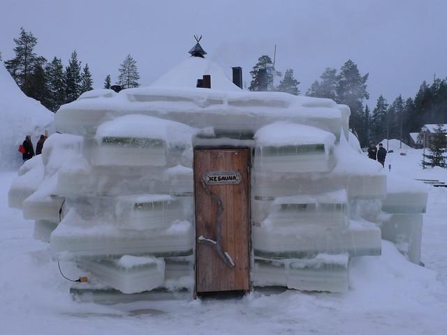 Sauna hecha de hielo