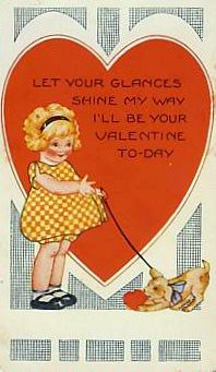 Girl and Dog Valentine
