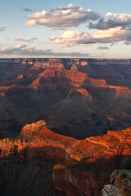 Grand Canyon, Yaki point, sunset