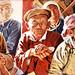 Mongolian Meeting - Oil painting by NewFeenix