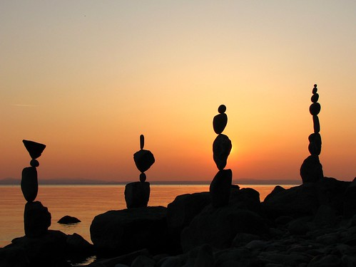 Rockbalancing and Sunset - March 21