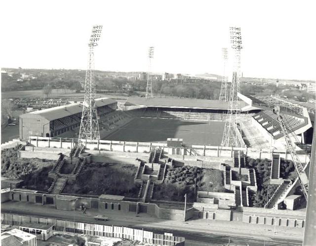 Aerial View, St James Park Circa 1970
