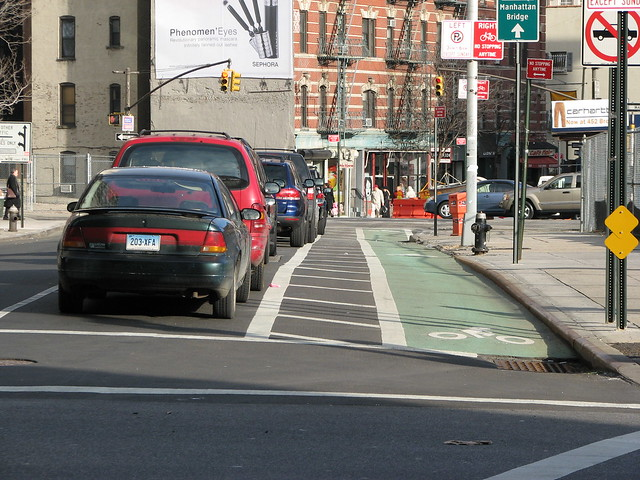 Grand Street Buffered Bike Lane, New York City