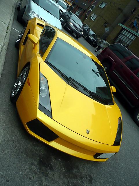 Another yellow Lamborghini Gallardo.