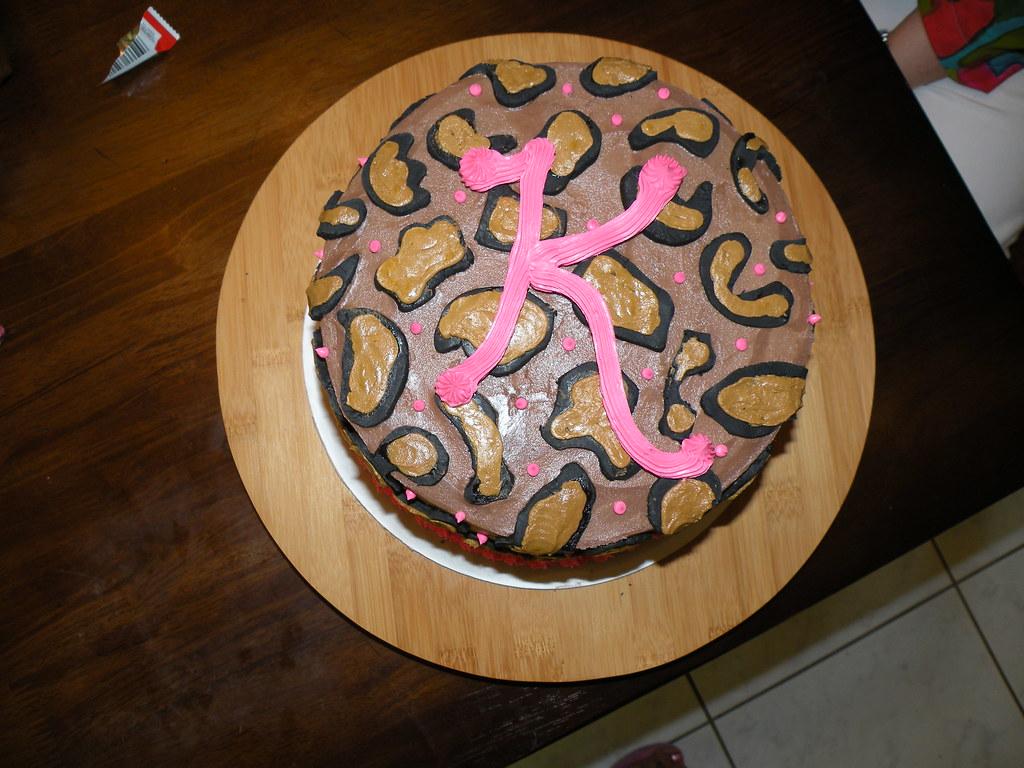 Enjoyable Cheetah Birthday Cake I Made This For A Friend Of My Siste Flickr Funny Birthday Cards Online Benoljebrpdamsfinfo