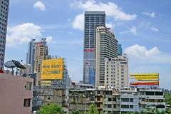 View from Asok BTS Skytrain station in Bangkok