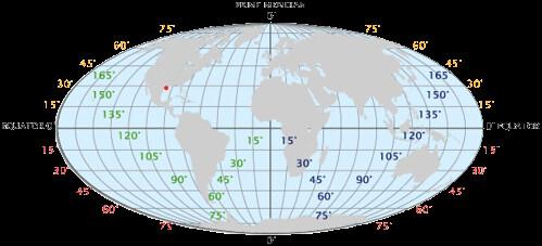 Latitude, longitude globe by trudeau