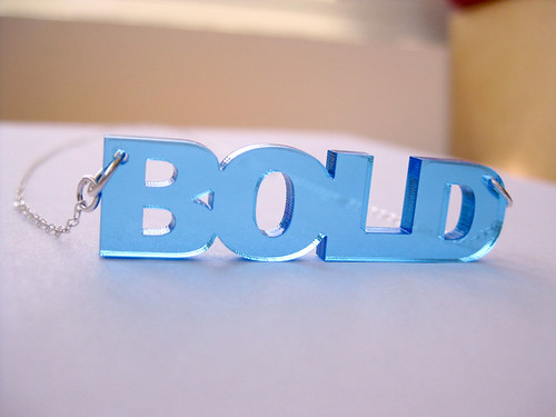 Bold acrylic necklace