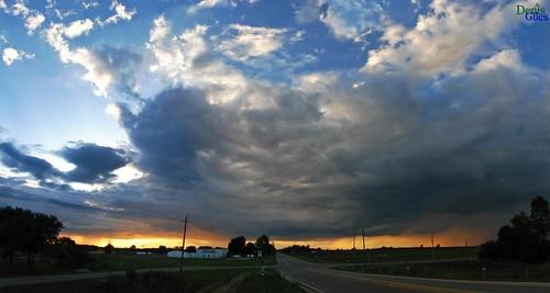 blue sunset sky panorama ontario canada storm rain clouds canon wide chatham merge powershots3 denisgiles