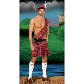 sexy hot scottie halloween costume for men. Bagpipes, Anyone?