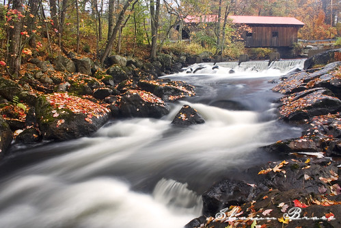 fall landscape newengland newhampshire foliage warner waterloobridge nhcoveredbridge