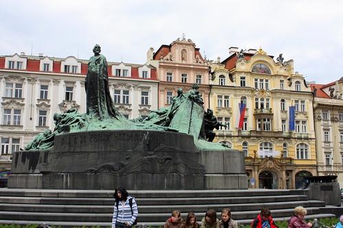 Jan Hus Memorial at Old Town Square