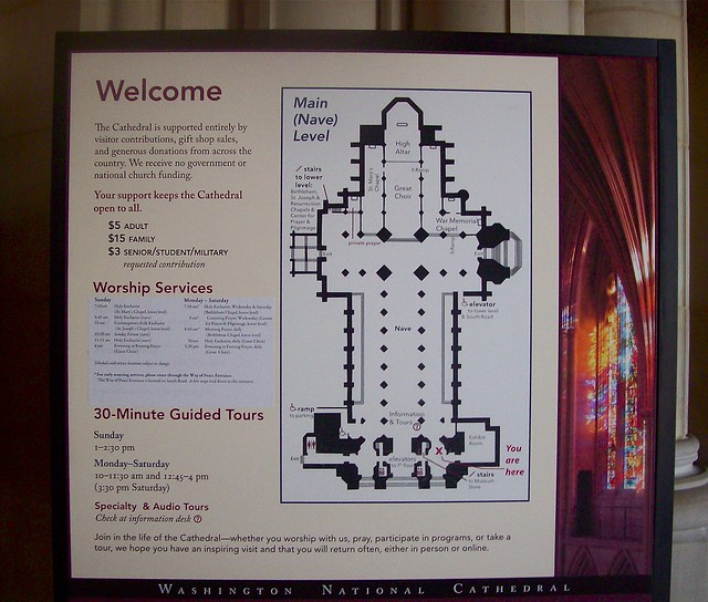 National Cathedral Floor Plan http://www.flickr.com/photos/stmarysmemphis/4003926094/