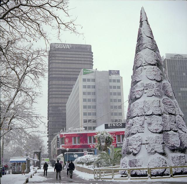 Nieve en AZCA