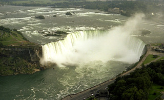 Niagara Horshoe Falls from the Skylon Tower 1981
