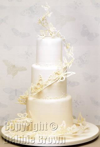 debbie brown wedding cakes lace butterflies from wedding cakes flickr 13367