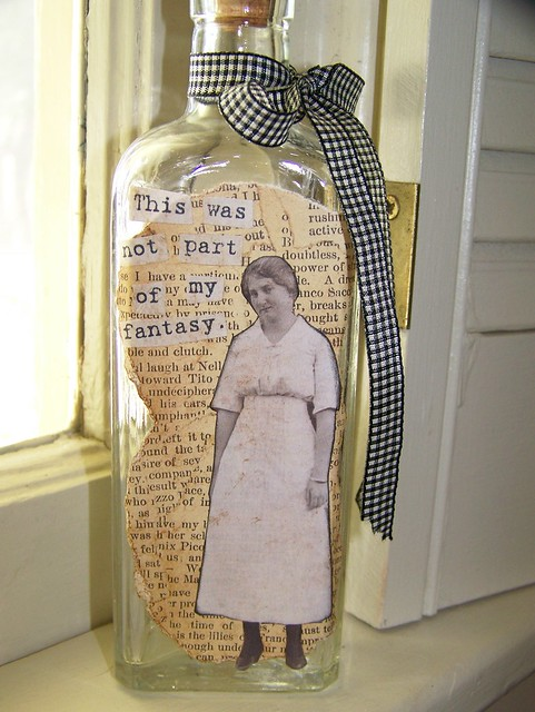 Vintage Altered Apothecary Bottle