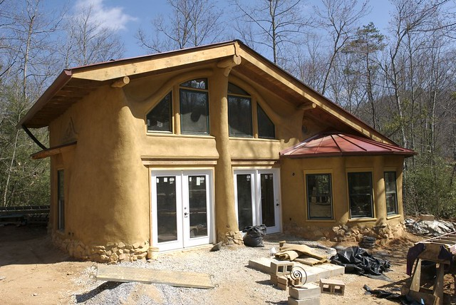 Earthaven straw bale house flickr photo sharing - Straw bale house ...