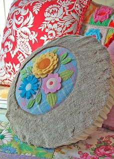 woolly and furry bouquet pillow...