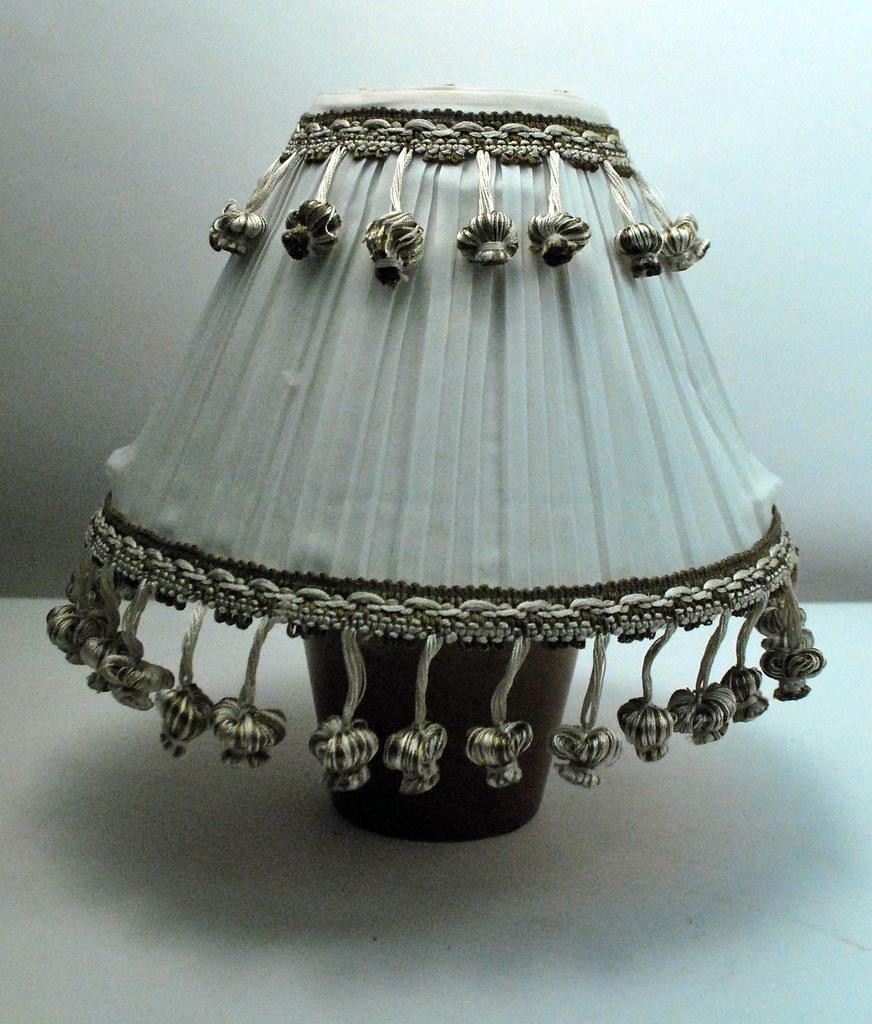 Rhinestone beaded tassled lampshade