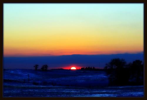 winter sunset sky minnesota
