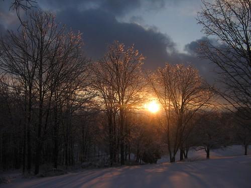 sunset ohio nature senecaville