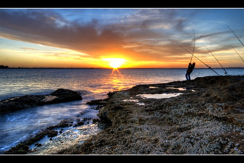 sunset sun la fisherman action sydney australia nsw catch perouse mywinners