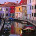 Evening in Burano.