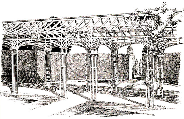 Traditional antique pergola - This antique and traditional ...