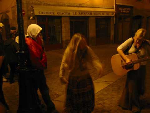 locals dancing to Michael in the streets of Lyon, France