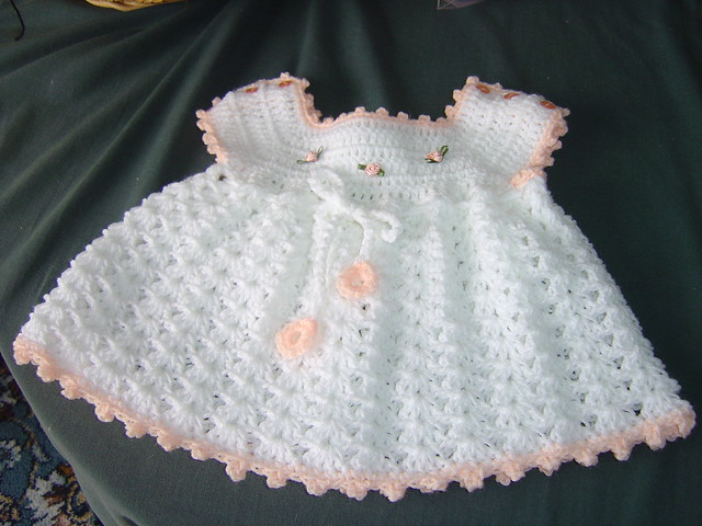 White crochet baby dress 003 Flickr - Photo Sharing!