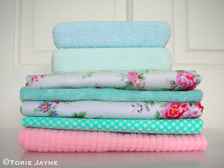 Pretty cleaning cloths