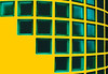 Abstract in green and yellow by Steve-h