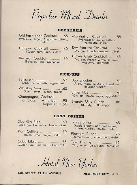 1947 Hotel New Yorker Room Service Menu (4)