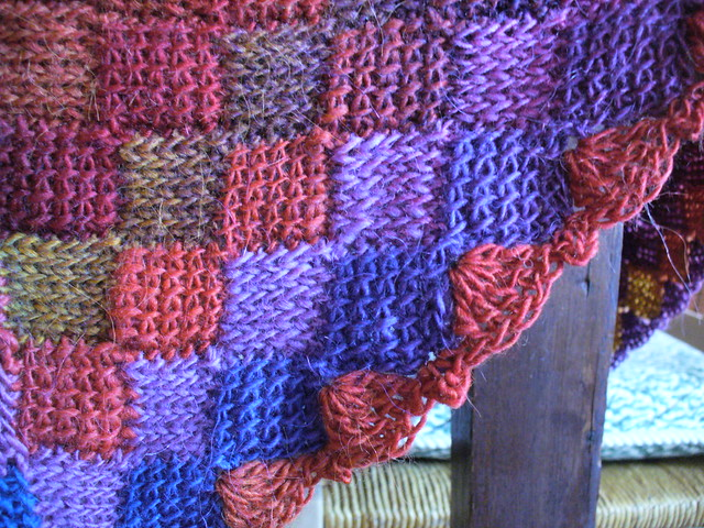 Tunisian Knit Stitch In The Round : Crochet Entrelac Baby Blanket Flickr - Photo Sharing!