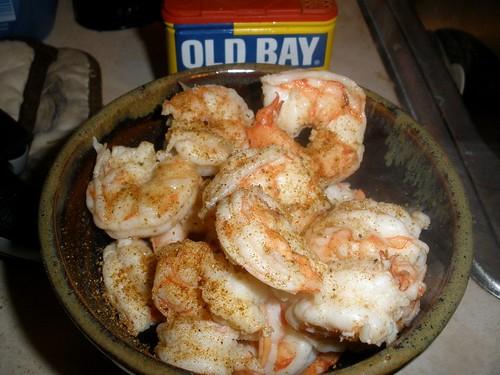 Steamed Shrimp Dinner