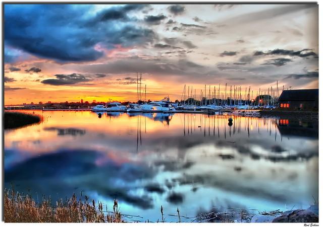 Sunset Hundige marina