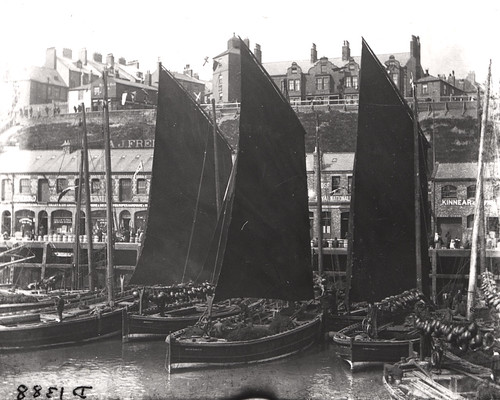 Herring boats Fish Quay North Shields c.1890