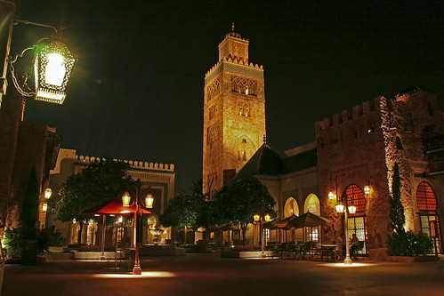 Epcot - Morocco at night