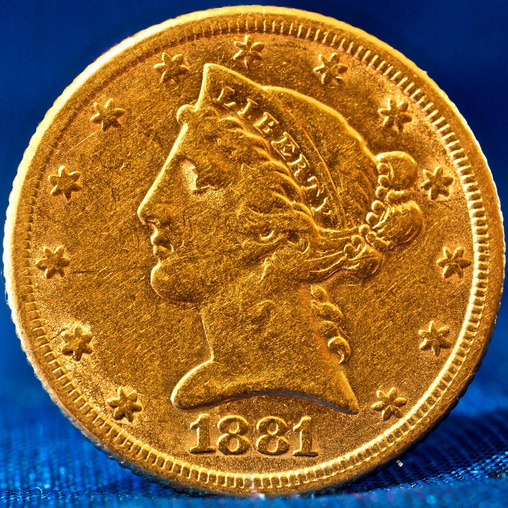 1881 5 Dollar Gold Coin