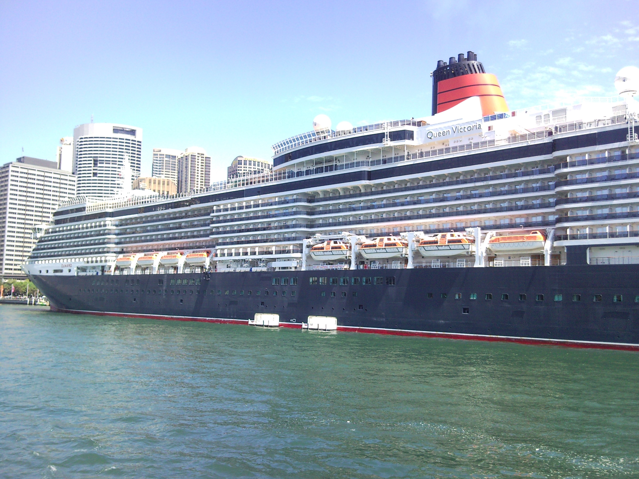 The Queen Victoria Cruise Ship Docked At Circular Quay