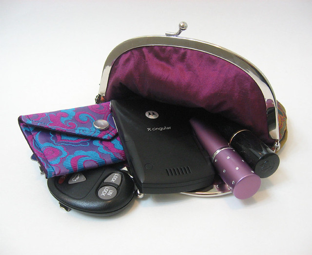 Upcycled necktie clutch