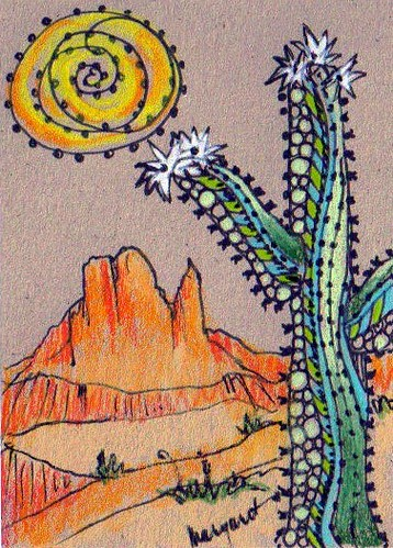 TRADED...DESERT WHIMSY ATC #2