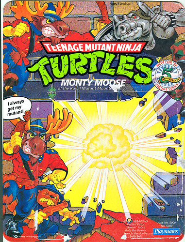 TEENAGE MUTANT NINJA TURTLES :: MONTY MOOSE ..card backer i (( 1992 ))